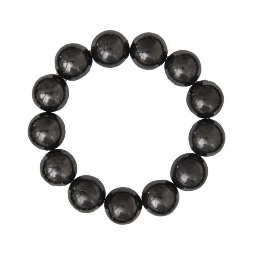 bracelet shungite pierres boules 14mm