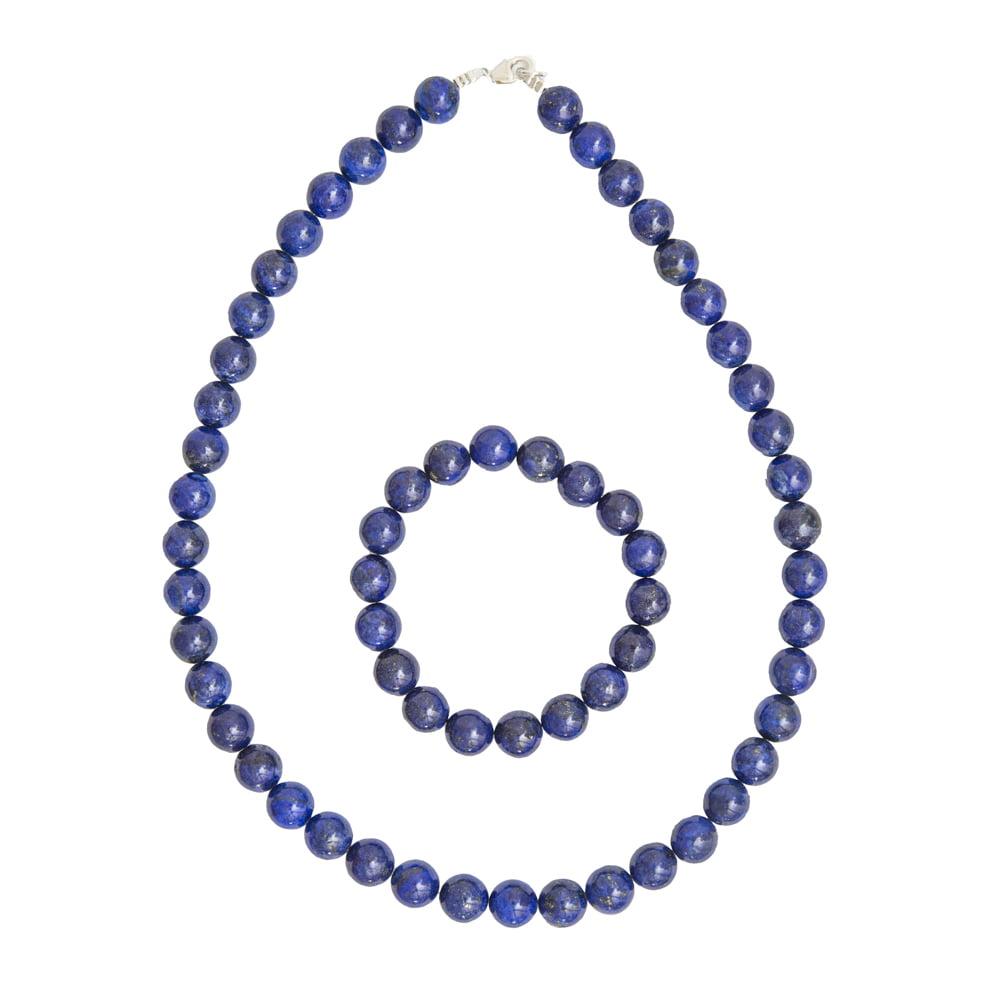 coffret lapis lazuli pierres boules 10mm