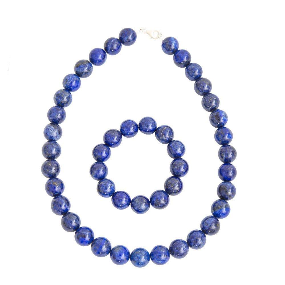coffret lapis lazuli pierres boules 14mm