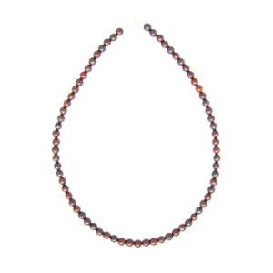 collier jaspe bréchique pierres boules 6mm