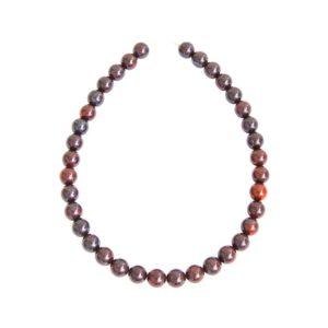 collier jaspe bréchique pierres boules 12mm