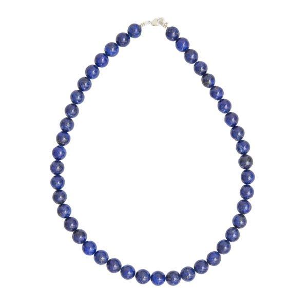collier lapis lazuli pierres boules 10mm