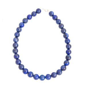 collier lapis lazuli pierres boules 14mm