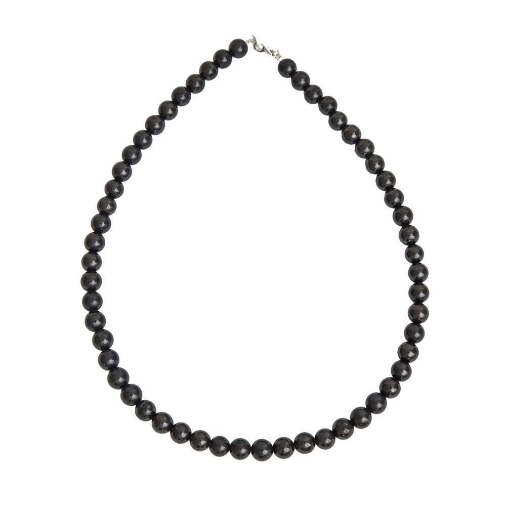 collier shungite pierres boules 8mm
