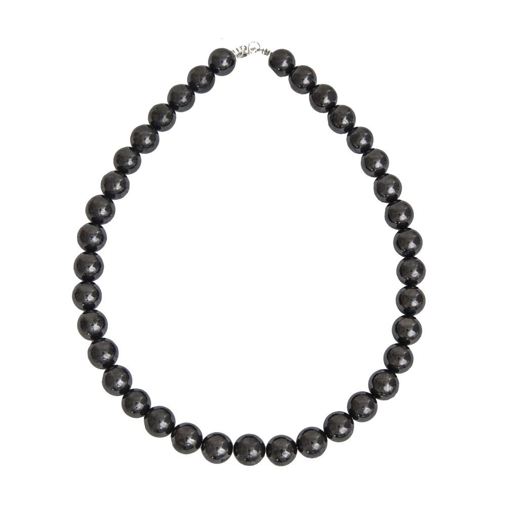 collier shungite pierres boules 12mm