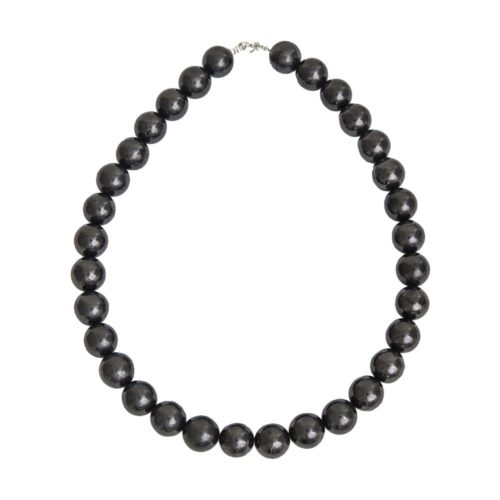 collier shungite pierres boules 14mm