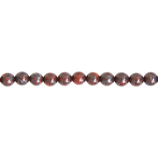 fil jaspe bréchique pierres boules 6mm