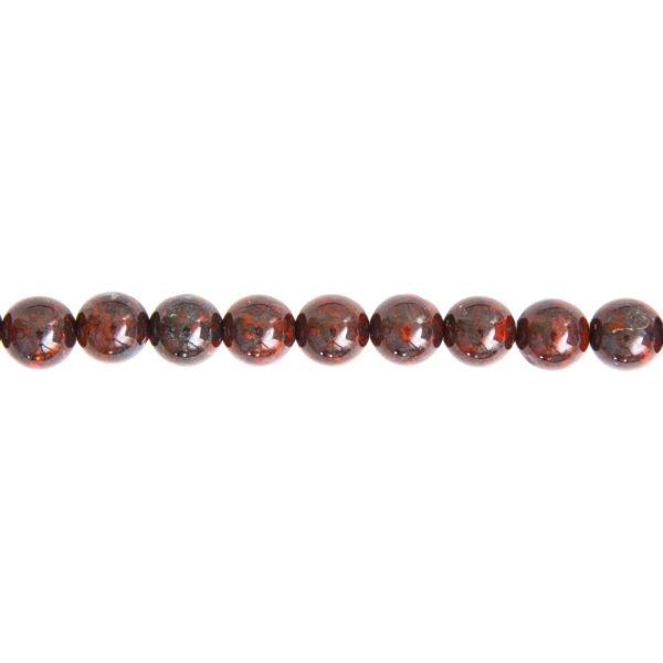 fil jaspe bréchique pierres boules 10mm