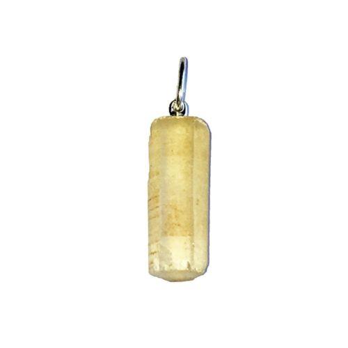 pendentif citrine pierre brute