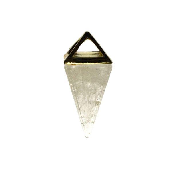 pendentif cristal de roche pyramide