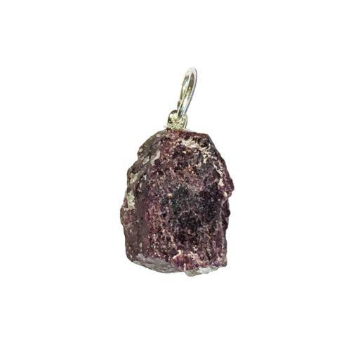 pendentif tourmaline rose pierre brute