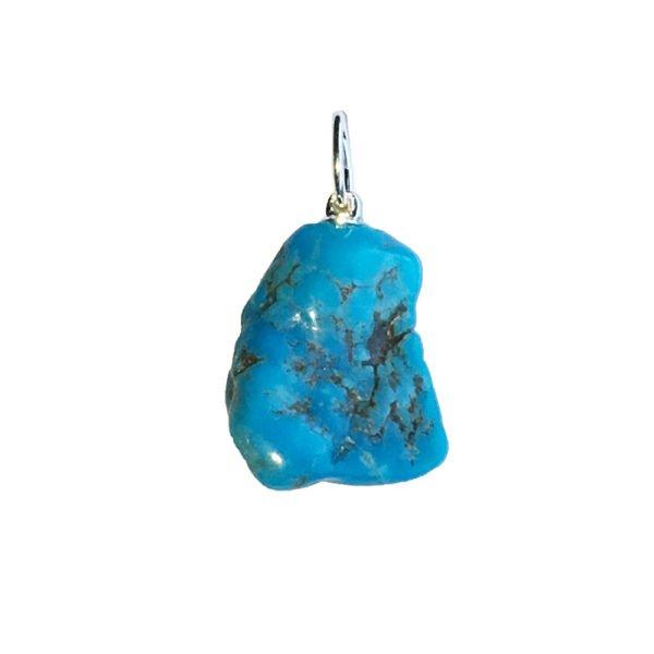 pendentif turquoise pierre brute