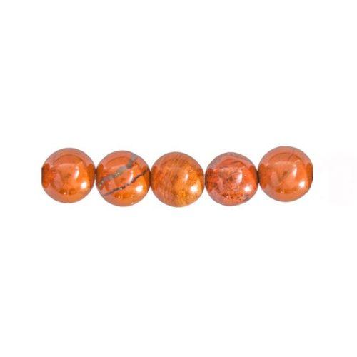 perles jaspe rouge