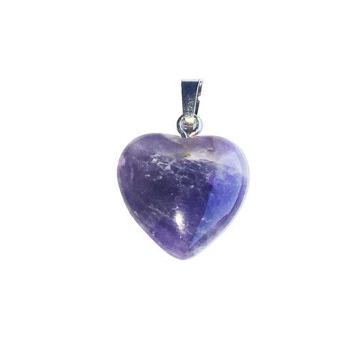 pendentif améthyste petit coeur