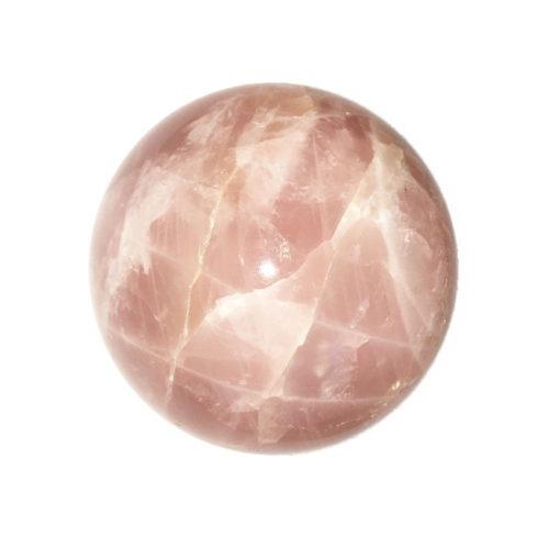 sphere quartz rose 75mm