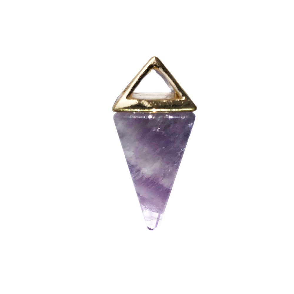 pendentif améthyste pyramide or