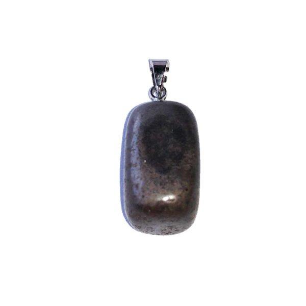 pendentif hématite pierre roulée