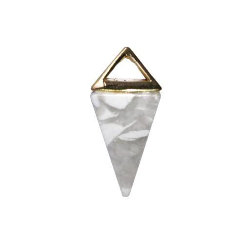 pendentif howlite pyramide or
