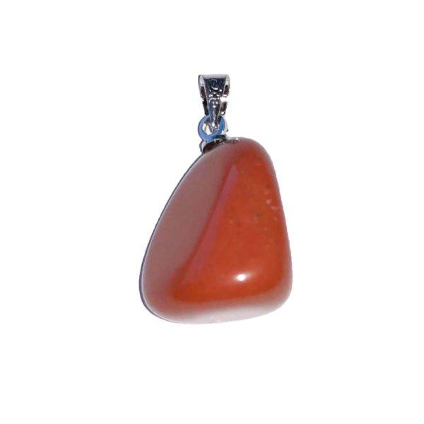 pendentif jaspe rouge pierre roulée