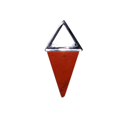 pendentif jaspe rouge pyramide argent