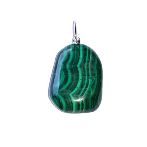 pendentif malachite pierre roulée