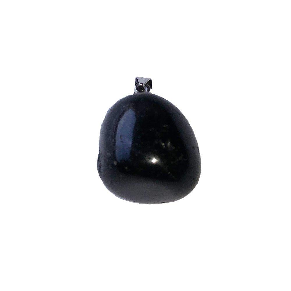 pendentif tourmaline noire pierre roulée