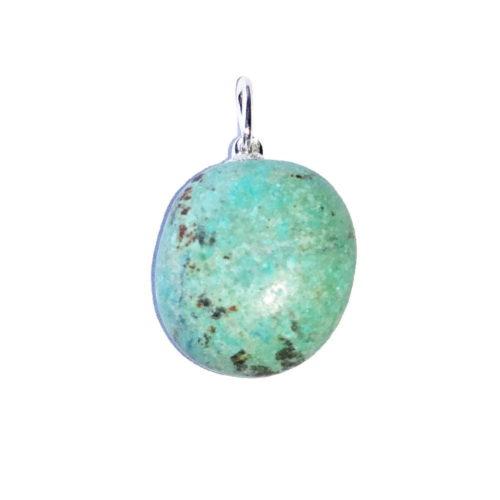 pendentif turquoise d'afrique pierre roulée