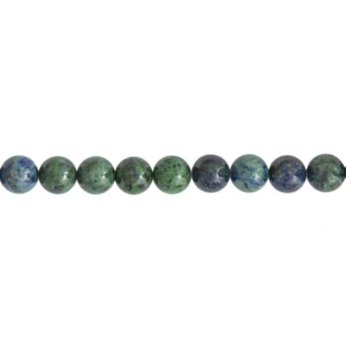 fil chrysocolle pierres boules 10mm