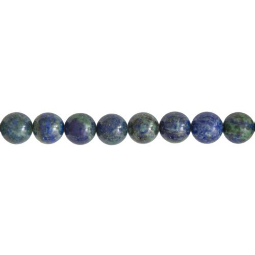 fil chrysocolle pierres boules 12mm