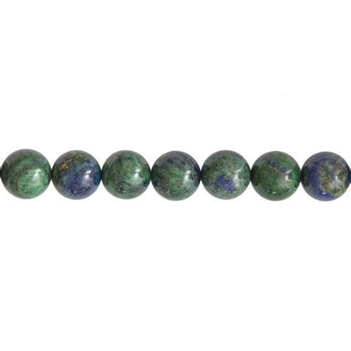 fil chrysocolle pierres boules 14mm