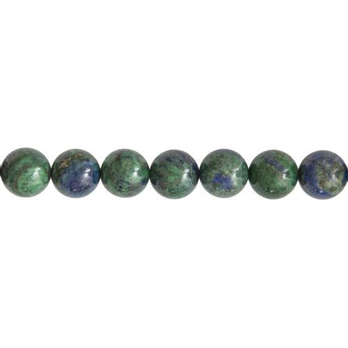 fil chrysocolle pierres boules 14mm