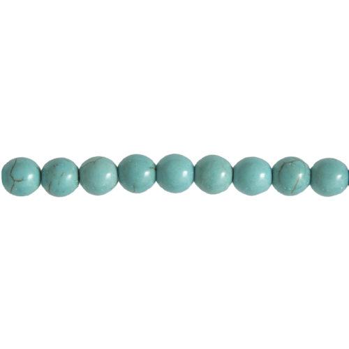 fil howlite bleue pierres boules 10mm