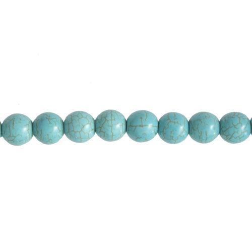 fil howlite bleue pierres boules 12mm