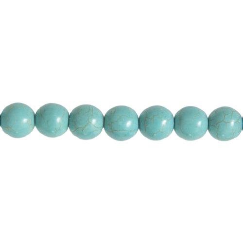 fil howlite bleue pierres boules 14mm