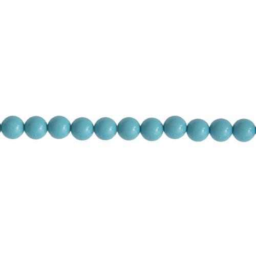 fil howlite bleue pierres boules 6mm