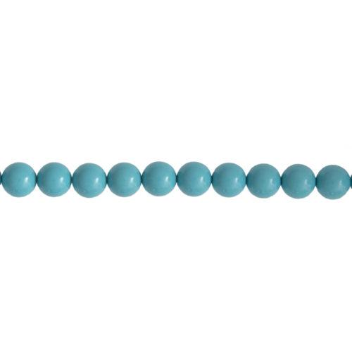 fil howlite bleue pierres boules 8mm