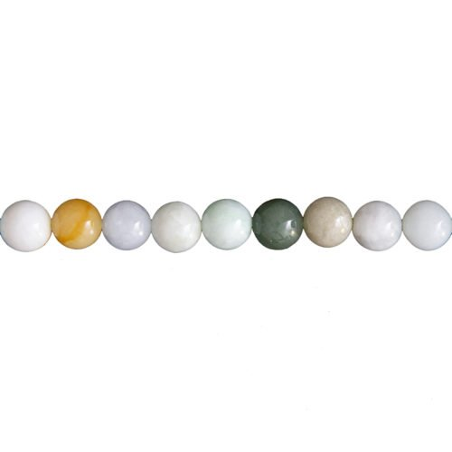 fil jade vert pierres boules 10mm