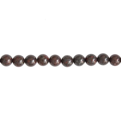 fil jaspe bréchique pierres boules 8mm
