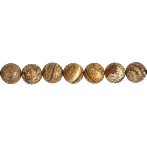 fil jaspe paysage pierres boules 14mm