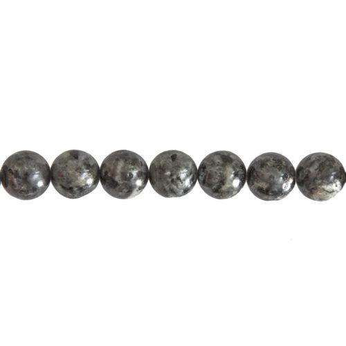 fil labradorite avec inclusions pierres boules 14mm