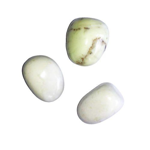 pierre roulée chrysoprase citron