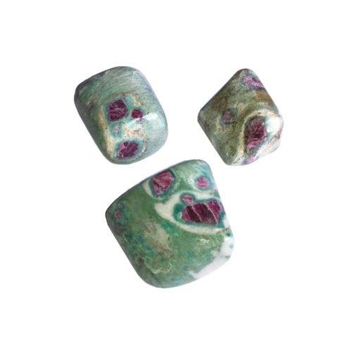 pierre roulée rubis sur fuschite