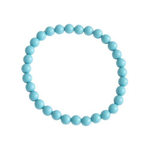 bracelet howlite bleue pierres boules 6mm