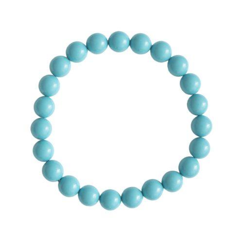 bracelet howlite bleue pierres boules 8mm