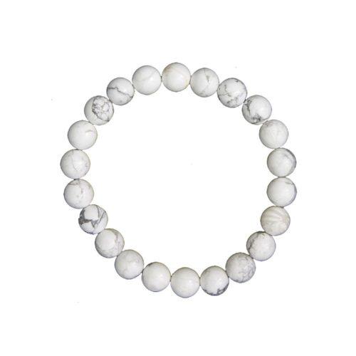 bracelet howlite pierres boules 8mm