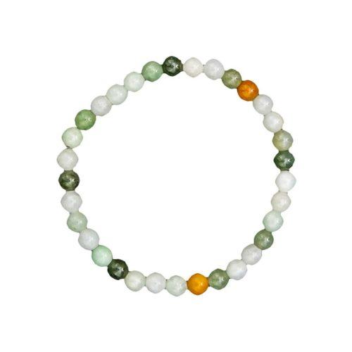 bracelet jade vert pierres boules 6mm
