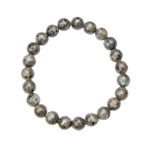 bracelet labradorite avec inclusions pierres boules 8mm