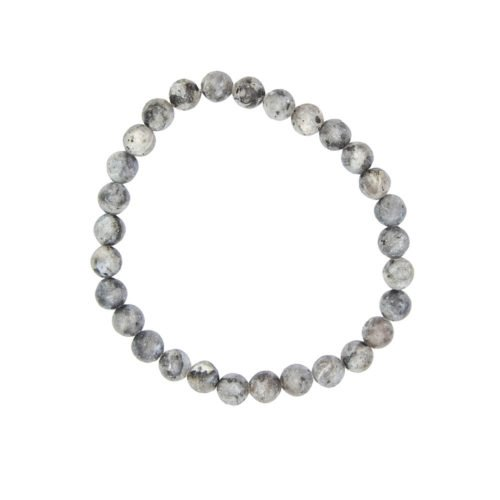 bracelet larvikite pierres boules 6mm
