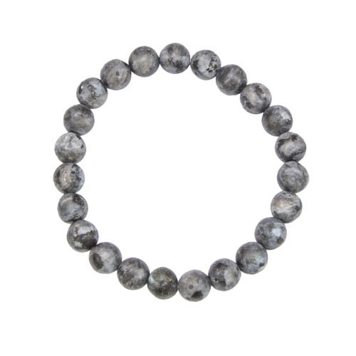 bracelet larvikite pierres boules 8mm