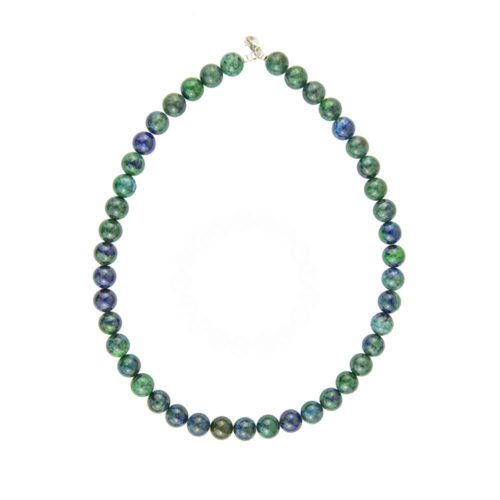 collier chrysocolle pierres boules 10mm